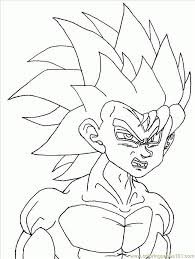 Coloring Pages Dbafm3huge Cartoons Goku