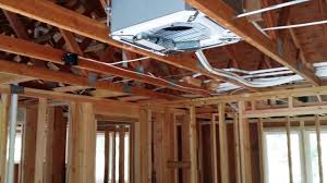 Mini Split Ceiling Cassette Air Conditioner by 4 Zone Ductless Rough In For New Construction Youtube