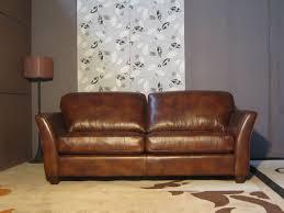 vieux canapé ss106 vieux style américain de style véritable cuir jaune canapé