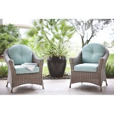 Patio Cushions Home Depot Canada by Martha Stewart Living Lake Adela Patio Weathered Grey Chat Chairs