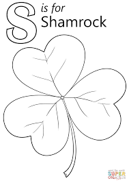 Click The Letter S Is For Shamrock Coloring Pages To View Printable