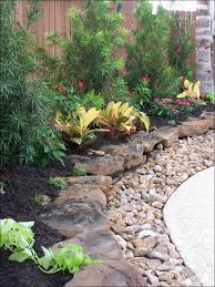 71 Fantastic Backyard Ideas On A Budget | Rock, Landscape Designs ... Outdoor Living Cute Rock Garden Design Idea Creative Best 20 River Landscaping Ideas On Pinterest With Lava Fleagorcom Natural Landscape On A Sloped And Wooded Backyard Backyards Small Under Front Window Yard Plans For Of 25 Rock Landscaping Ideas Diy Using Stones Interior 41 Stunning Pictures Startling Gardens