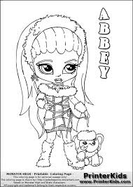 Free To Download Monster High Coloring Pages Baby 88 In Colouring With