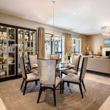 Formal Dining Room With Built In China Cabinet
