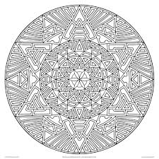 Complex Design Coloring Pages Geometric For Adults Printable Download Pdf Jpg Online