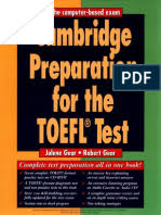 Cambridge Preparation For The TOEFL Test 3rd Edition
