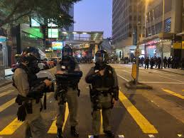 100 An Shui Wan Tear Gas Lingers In Chai After Police Clear Protesters