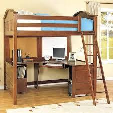desk great work area and conversation nook under the loft bunk