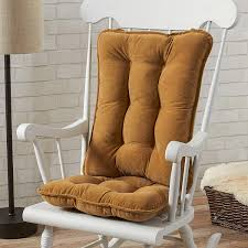 Greendale Home Fashions Standard Rocking Chair Cushion Set, Cherokee Solid,  Khaki