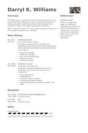 Assembler Resume Samples Splendid Design Visualcv Database Sample