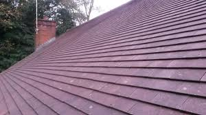 clean your roof by removing moss from the tiles