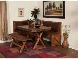 Dining RoomCorner Sectional Wooden Room Table With Bench Also L Shape Seating Plus