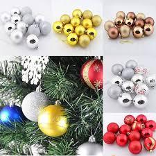 Christmas Tree Ornaments 60mm Holiday Decor Shatterproof Balls 12 Pcs