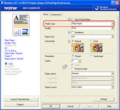 Click The Basic Tab And Choose Plain Paper In Media Type