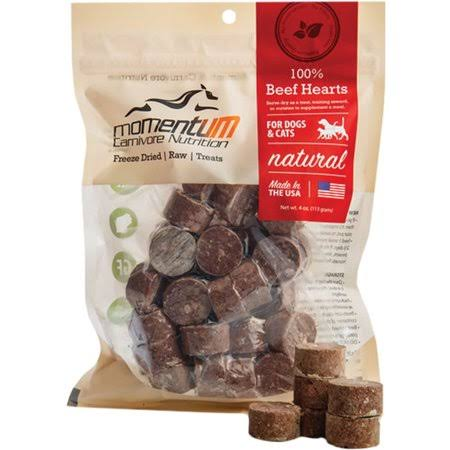 Momentum Dog Cat Freeze Dried Raw Treats - Beef Heart, 4oz