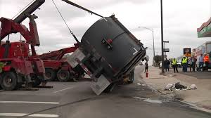 Garbage Truck Rollover - YouTube