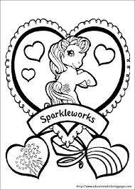 Free Printable Ittle Pony Friendship Is Magic Sparkle Coloring Pages For Girls Print Out Sheet Fargelegge Tegninger