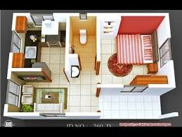 15 e Bedroom Home Design With Floor Plan 1 Bedroom Apartment