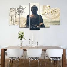 5er set bilder buddha leinwandbilder kunstdruck wandbilder wanddekoration setzen sie buddha