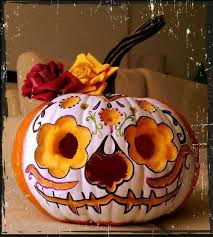 Sugar Skull Pumpkin Carving Patterns by Katrina Meets Halloween Love It Halloween Autumn