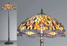 Tiffany Style Glass Torchiere Floor Lamp by Tiffany Style Floor Lamps For Living Room