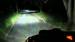 stock lights vs hid on can am 1000xt