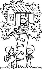 Sensational Treehouse Coloring Pages Kids