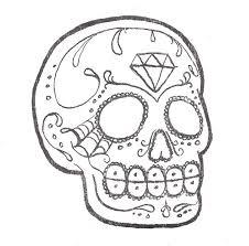 Outline Sugar Diamond Art Design Skulls Skull Tattoos