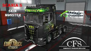 100 Monster Truck Simulator Skin Scania S Mod For Euro 2
