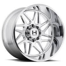 100 Chrome Truck Wheels 22x12 Hostile Sprocket 568 Lug PowerHouse