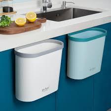 mülleimer hängend abfalleimer abfallsammlermüll abfall küche bad tür schrank 1x hellblau