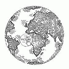 Planet Earth Throughout Printable Coloring Pages