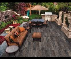 amazing outdoor wood flooring tiles with outdoor kitchen with