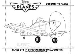 Disney Planes Dusty Colouring Page