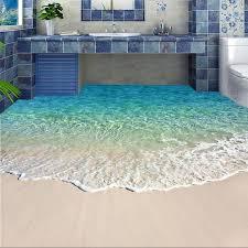 großhandel selbstklebende bodentapete fototapete 3d meerwasser wellen bodenbelag aufkleber badezimmer tragen rutschfest wasserdichte wand papiere