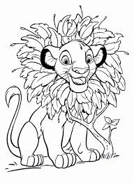 Coloring Pages Printable Lion Leaves Disney Kids Free Branch Tree Plant Tiger Small Modern Unique