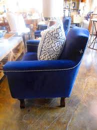 COCOCOZY FIND: A LUXE BLUE VELVET CHAIR! | COCOCOZY Vintage Find Nailhead Arm Chair Armchairs And Vintage Bernhardt Interiors Chairs Angelica Upholstered Armchair With Restoration Hdware Nailhead Chair Decor Look Alikes Biondo Modern Classic Grey Weave Silver Pair Cozy A Luxe Blue Lvet Brown Leather Club With Trim For Ding Spiring Leather Nailhead Ding Chairs Occasional Arms Black Accent Under Teal