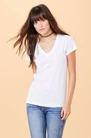 lna clothing u2013 short sleeve v neck white