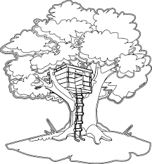 Unusual Design Ideas Treehouse Coloring Pages Magic Tree House To Print Atkinson Flowers
