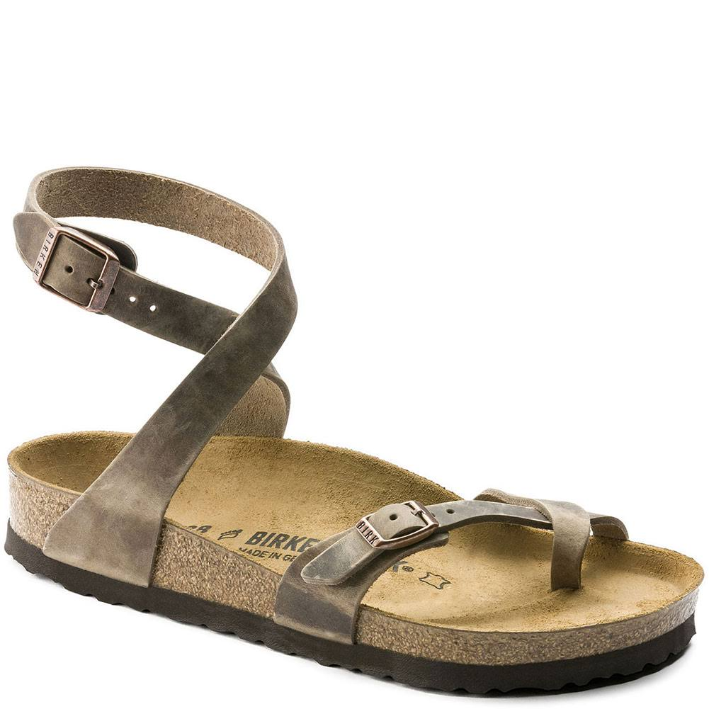 Birkenstock Women's Yara Tobacco Oiled Leather Sandals - 9-9.5US