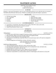 Telemarketing Resume Sample First Class Cv Writing Service In Limerick Written Prior To Payment