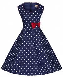 rkb10 lindy bop leda blue rockabilly vintage polka dots swing