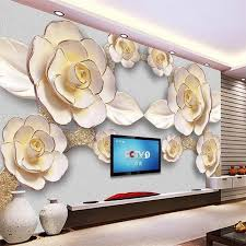 beibehang papel de parede 3d für wohnzimmer amerikanischen pastoralen blume gold wand malen fotografie hintergrund papier peint