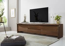 tv board akazie 220x45x50 braun lackiert live edge 804