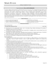 Contact Center Manager Resume Sample Page 1 17 Call Examples New