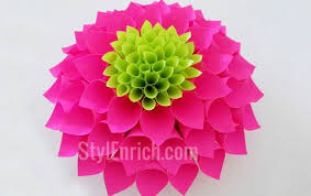 DIY Room Decor How To Make Amazing Paper Dahlia Flower