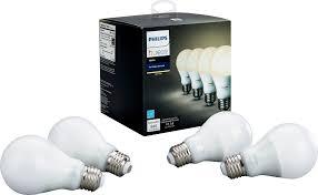 philips hue white a19 wi fi smart led bulb 4 pack white 472027