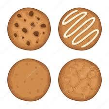 Set of cookies Vector illustration Royalty Free Stock Vectors