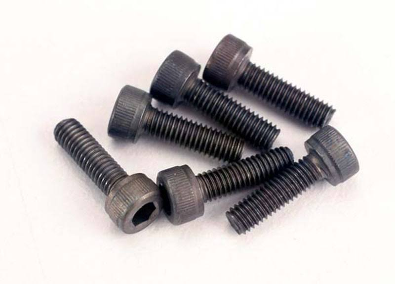 Traxxas 2587 Cap Head Machine Screws - 3mm x 10mm, 6pk