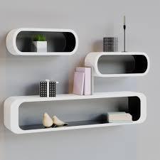 regale 4 teiliges regalset wohnzimmer büro hängeregal weiß